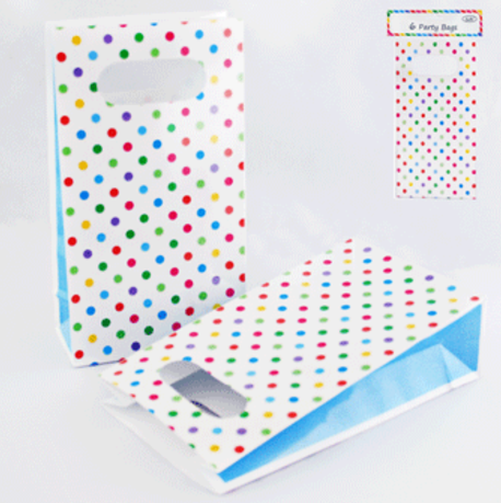 6pk Multi Dotty Party Bags