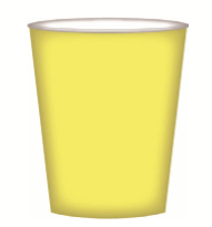 CUPS PAPER 8PK LIGHT YELLOW
