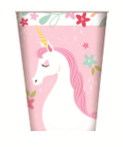 Unicorn Paper Cups pk8