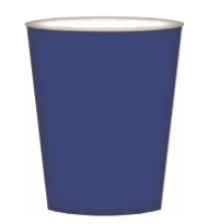 CUPS PAPER 8PK DARK BLUE