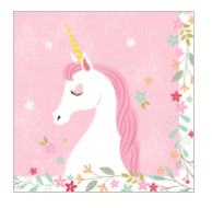 Unicorn Paper Lunch Napkins pk20