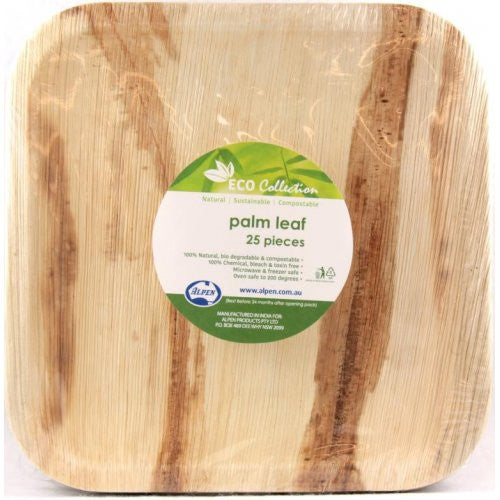 Palm Leaf Square Plate 10inch P25x4