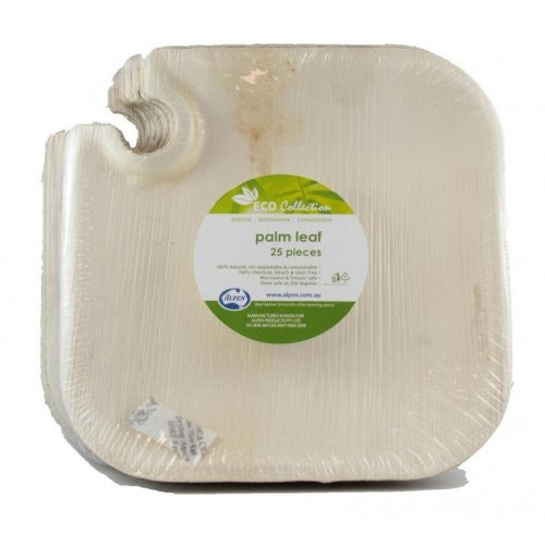 Palm Leaf Square Wine Plate 8.5inch P25x4