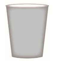 CUPS PAPER 8PK SILVER