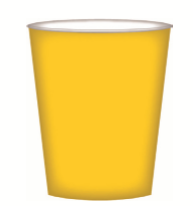 CUPS PAPER 8PK YELLOW