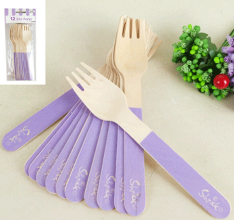 12pk Sorbet Eco Fork Purple