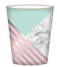 PAPER CUP 8PK MARBLE
