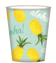 PAPER CUP 8PK TROPICAL