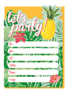 INVITE 16PK TROPICAL