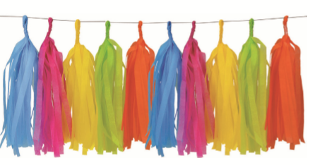 TASSEL GARLAND 15PK TROPICAL
