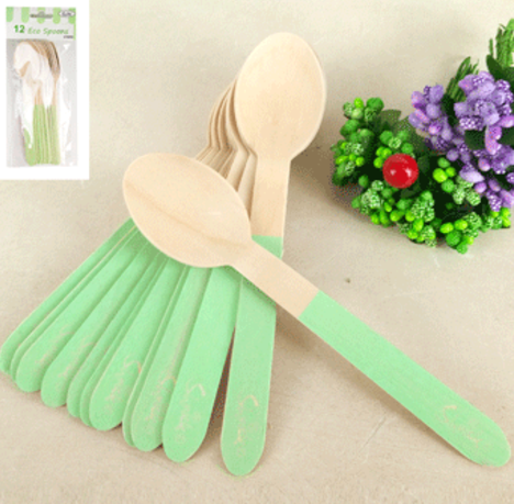 12pk Sorbet Eco Spoon - Green
