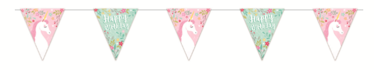 Unicorn Bunting 5 flag