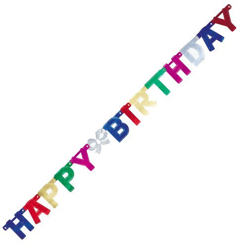 B'DAY GLITTER JOINTED BANNER