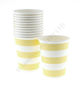 Candy Stripe Yellow Cups