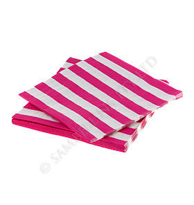 Raspberry Candy Stripe Napkins