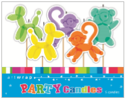 CANDLES 5 PICK BALLOON ANIMALS