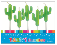 CANDLE SMALL 5PK CACTUS
