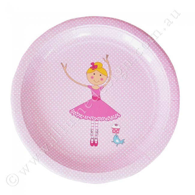 Ballerina Large Plate - Pack of 12