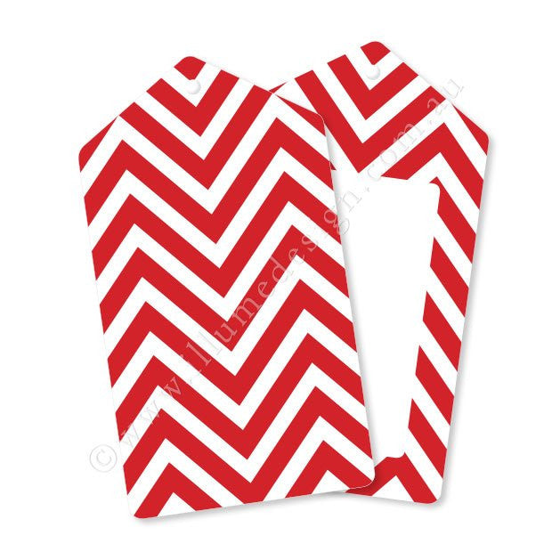 Chevron Red Tag - Pack of 12