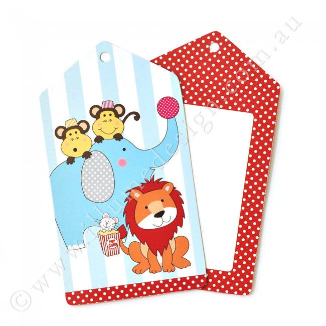 Circus Animals Tag - Pack of 12