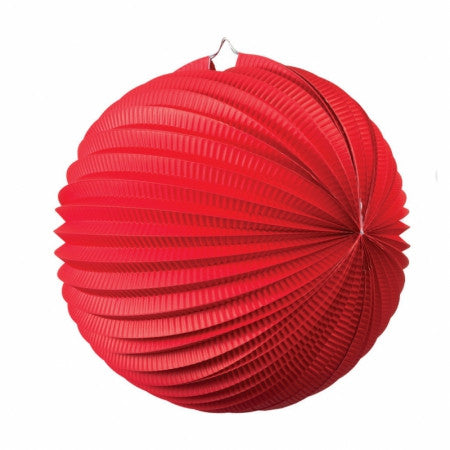 ACCORDION LANTERN APPLE RED 25CM 1 PK
