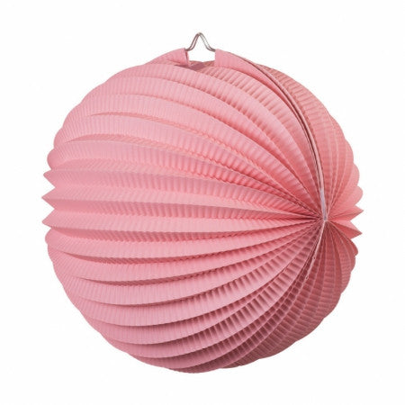 ACCORDION LANTERN CLASSIC PINK 25CM 1 PK