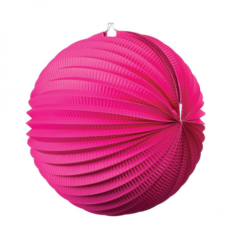 ACCORDION LANTERN MAGENTA 25CM 1 PK