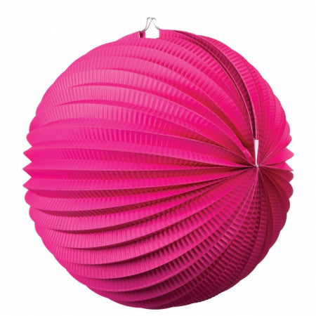 ACCORDION LANTERN MAGENTA 35CM 1 PK
