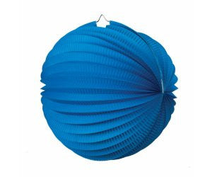 ACCORDION LANTERN TRUE BLUE 25CM 1 PK