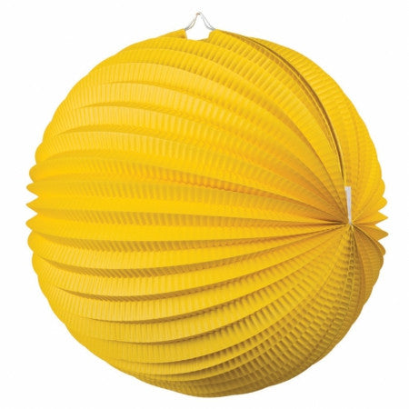 ACCORDION LANTERN YELLOW 35CM 1 PK