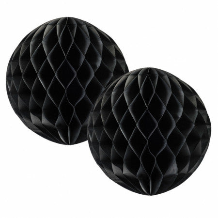 HONEYCOMB BALL BLACK 15CM 2 PK