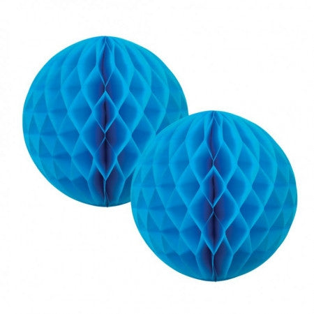 HONEYCOMB BALL ELECTRIC BLUE 15CM 2 PK