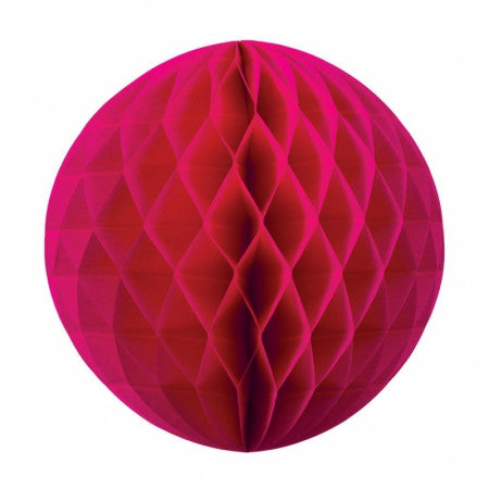 HONEYCOMB BALL MAGENTA 25CM 1 PK