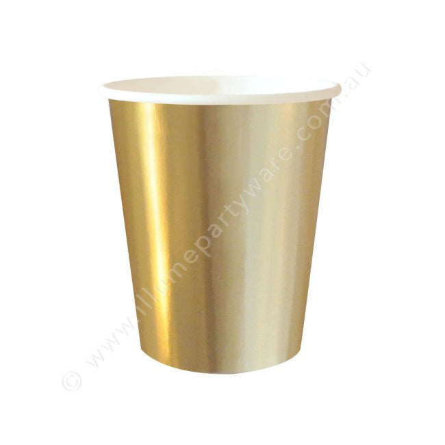 Gold Foil Cup - Pack of 10