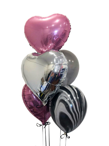 5 Balloon Arrangement With 18inch Foil Balloons