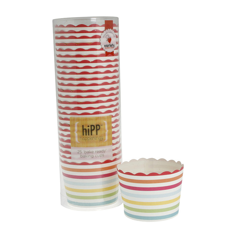 baking cups - carnival stripe