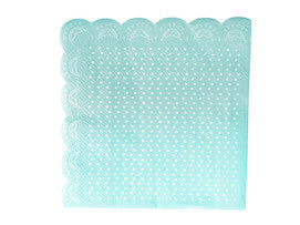 tiffany blue lovely lace napkins