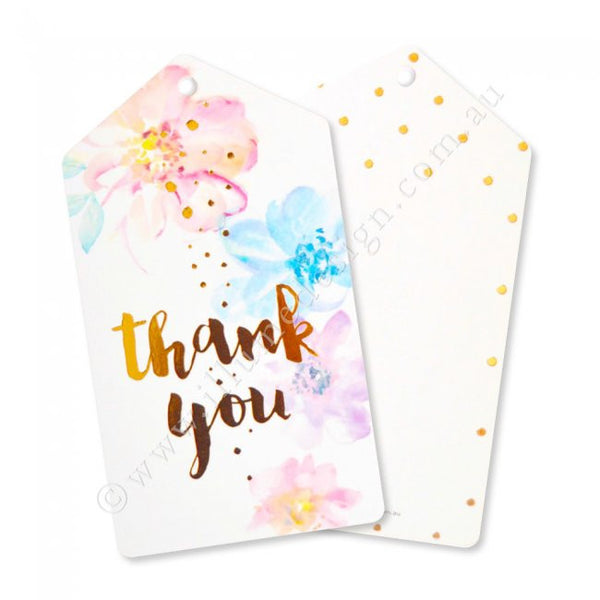 Floral Thank You Tags - Pack of 10