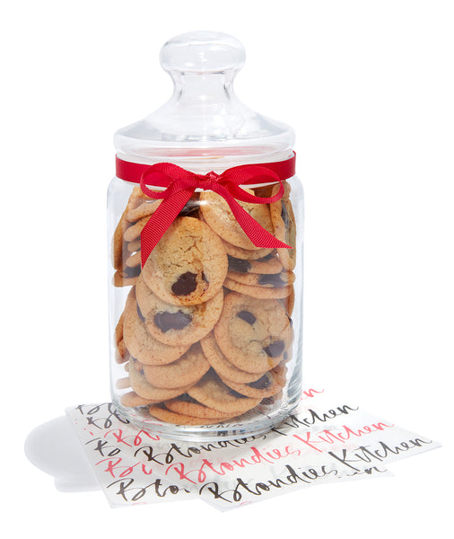 Large Christmas Cookie Jar of Mini Cookies