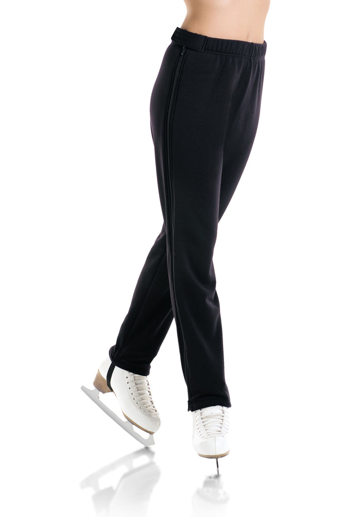 Polartec Power Stretch Zipper Pants- Black - 4454