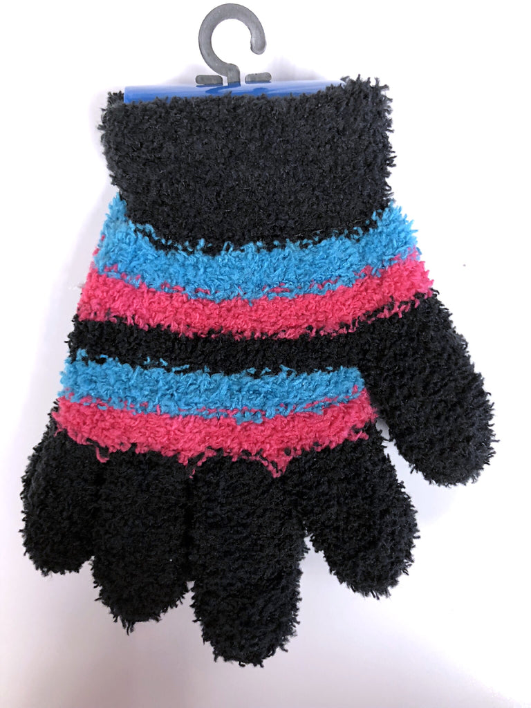 Striped Childrens Butter Gloves