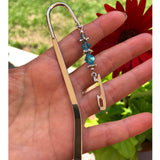 Ice Skate Blade Bookmark with Gems