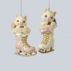 Kitty In Ice Skate Ornament C8781