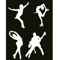 Figure Skating Car Window Decals