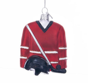 Noble Gems™ Hockey Outfit Glass Ornament - NB1335