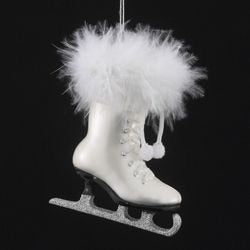 Glass Ice Skate Ornaments NB0223