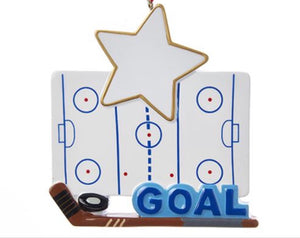 "Hockey Board ""GOAL"" Ornament C6545"