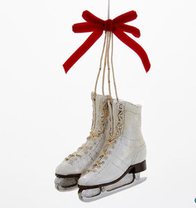 Ice Skates with Red Bow Ornament - C6716