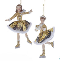 Winter Woods Skating Girl Ornaments - C7661