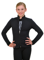 Black Chloe Noel Polar Fleece Fitted Jacket J11